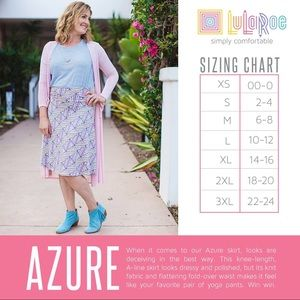 """LuLaRoe Skirts - LulaRoe """"azure"""" skirt"""